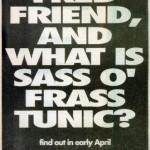 Blonde Vinyl Ad - Sass O Frass Tunic