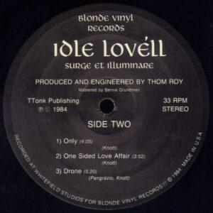 Idle Lovell - Surge et Illuminare vinyl side 2