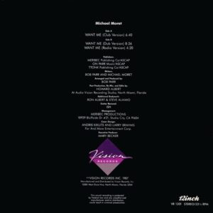 Michael Moret - Want Me (back cover)