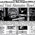 Advertisement for the Blonde Vinyl Alternative Blowout concert on August 29, 1992
