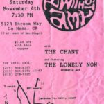 Concert Flier for a Breakfast With Amy, The Chant, and The Swoon concert in La Mesa, California