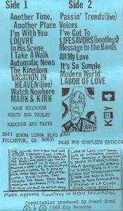 Mark Krischak & Friends - Volume 1 liner notes