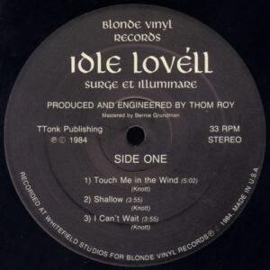 Idle Lovell - Surge et Illuminare vinyl side 1