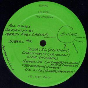 Lifesavors - Us Kids vinyl side 2