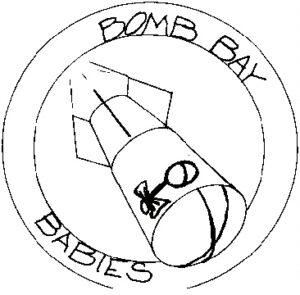 Bomb Bay Babies - original artwork black & white 1