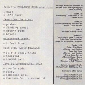 Michael Knott - 2003 Tour CD 1 - cover 2