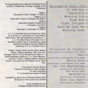 Michael Knott - 2003 Tour CD 2 - cover 2