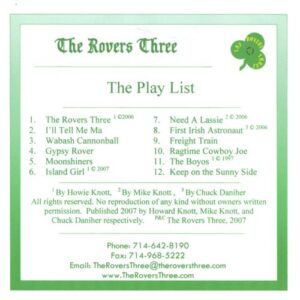 The Rovers Three - The Rovers Three - cover 2