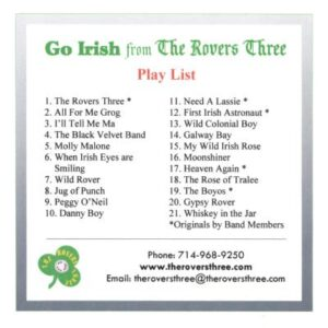 The Rovers Three - Go Irish - cover 3